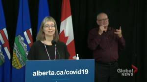 'COVID-19 is not over': Alberta's top doctor reminds citizens that removal of restrictions doesn't mean the disease is gone (02:26)