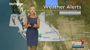 Wildfire smoke from western U.S. settles over Alberta (01:09)