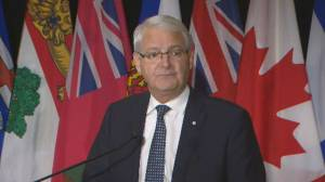 Garneau says injunctions against demonstrators at rail blockades decision by the province