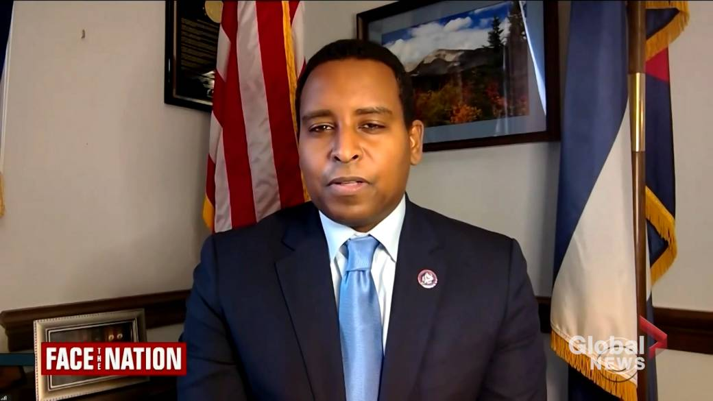 Click to play video 'Rep. Neguse explains why he 'backed off' request for witnesses in 2nd Trump impeachment trial'