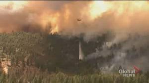 Wildfires tear through US west coast amid extreme heat wave (02:02)