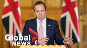 Coronavirus outbreak: U.K. health secretary defends PM's top aide over trip during lockdown