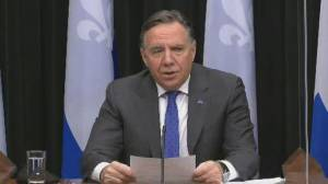 Coronavirus: Quebec premier says curfew is working, won't lift it yet (00:41)