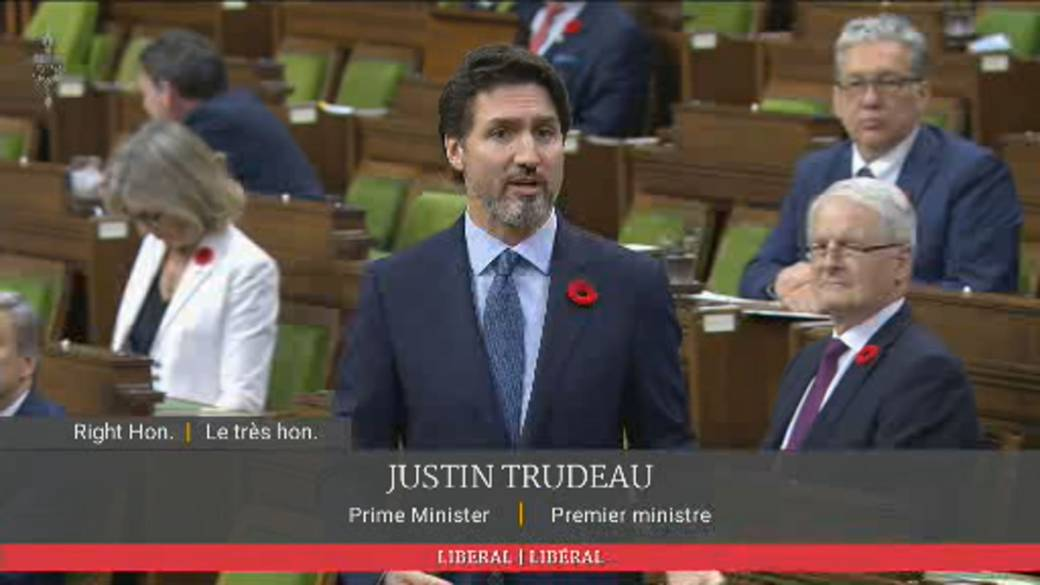 Click to watch video 'Trudeau says government will always stand up for Canadians' freedoms'
