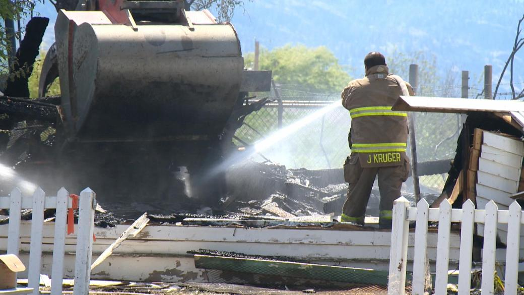 Click to play video: 'Evidence of an accelerant found at church fire scene in South Okanagan.'