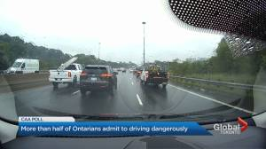 New CAA survey finds 55% of Ontario drivers polled admit to engaging in unsafe driving (02:12)