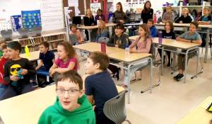 École Sister O'Brien School students gets their weather fix