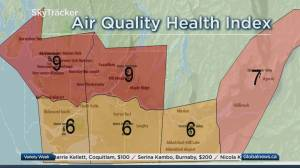 B.C. afternoon weather forecast and air quality advisory: Sept. 18