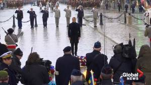 Macron marks Armistice Day by laying wreath at Tomb of Unknown Soldier