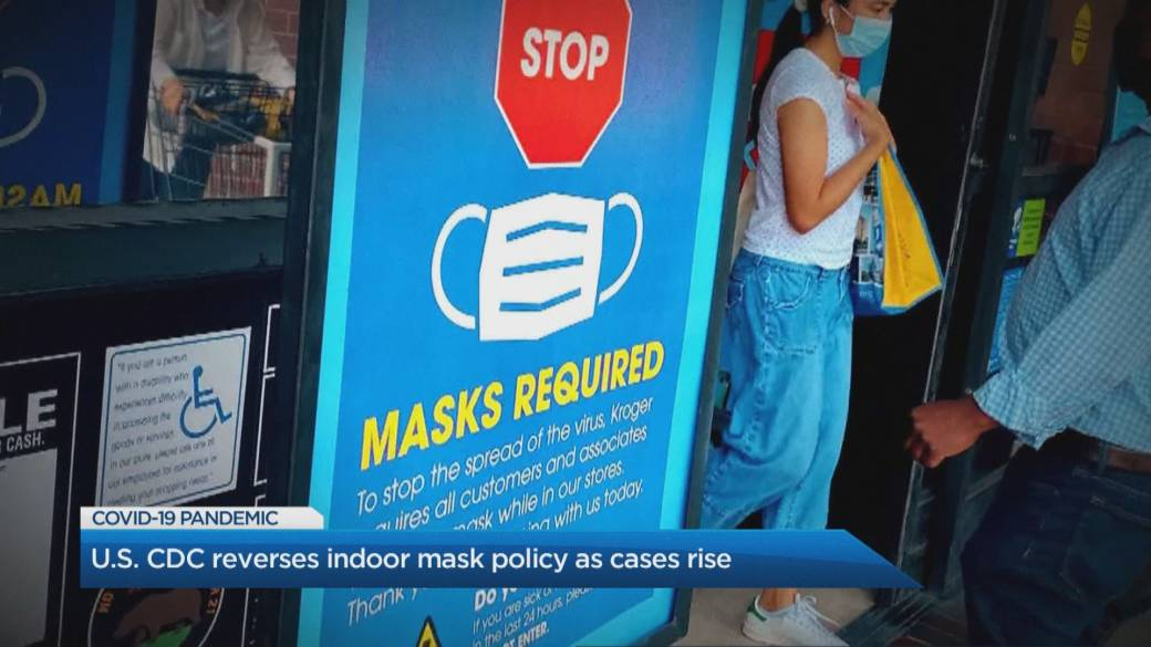 Click to play video: 'CDC reinstates face mask recommendations amid U.S. surge in Delta variant cases'