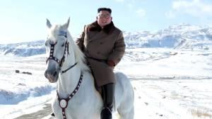 North Korea's Kim Jong Un rides white horse to sacred peak ahead of 'great operation'