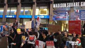 Pro-Hong Kong protest organized outside of NBA pre-season game in New York