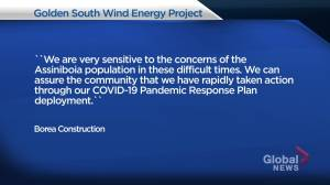 Assiniboia, Sask. residents call for windmill project postponement during COVID-19 pandemic