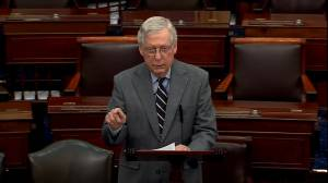 Mitch McConnell calls comments by Chuck Schumer outside U.S. Supreme Court 'shameless' (02:25)