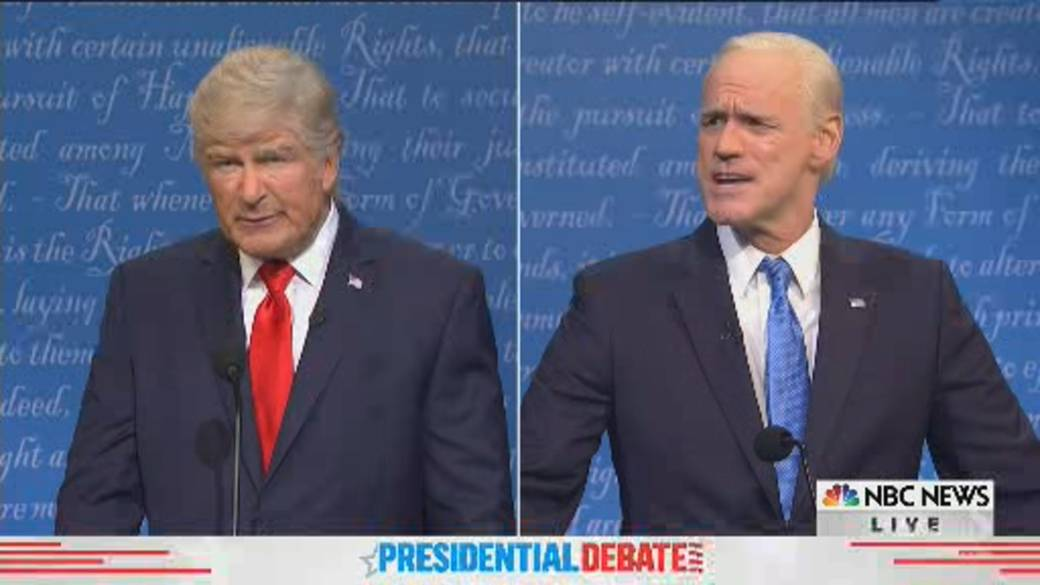 Click to read the video `` SNL opened the final US presidential debate between Trump and Biden ''