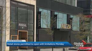 Ontario retail stores permitted to open with limitations Monday
