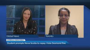 Vaughan student prompts Nova Scotia to repay Viola Desmond (04:32)