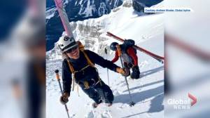 First ski descent of Cascade Mountain's east face (02:36)