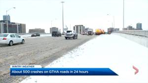 Snowy weather results in about 500 crashes in past 24 hours in Greater Toronto, Hamilton area