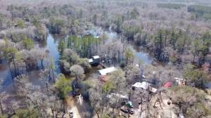 Drone footage captures extent of flash flooding in South Carolina (05:28)