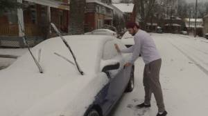 Residents in Kingston deal with the aftermath of a mixed winter storm