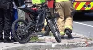 E-bike rider taken to hospital following collision in Peterborough (00:22)