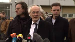 Julian Assange's father speaks outside his son's extradition hearing
