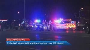1 dead, 1 seriously injured after shooting in Brampton
