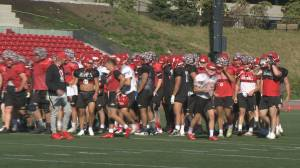 Game time for SFU Football (01:42)