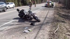 1 airlifted to hospital following motorcycle crash north of Cobourg