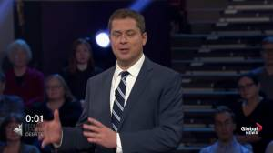 Leaders' Debate: Scheer says Trudeau uses racism, hateful language to 'demonize' anyone who disagrees with him