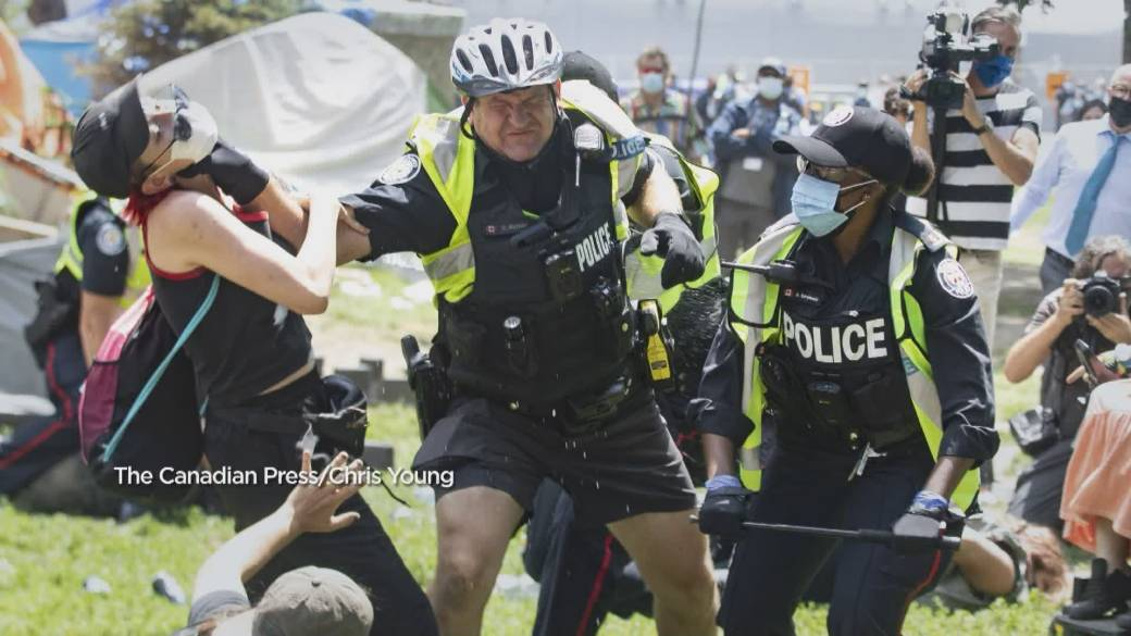 'Toronto nonmigratory  shares achy  acquisition   aft  clearing of Lamport Stadium Park encampment'