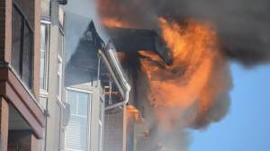 Thieves target burnt-out condo building in Langley