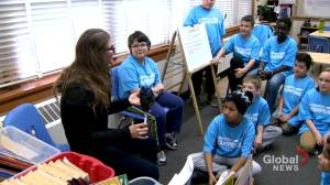 Calgary Olympians 'so proud' to support kids with classroom visits (01:43)