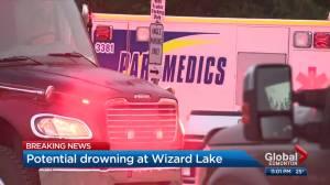 Drowning southwest of Edmonton at Wizard Lake (01:30)
