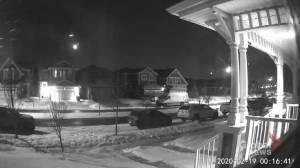 Possible meteor captured in Calgary's Auburn Bay neighbourhood