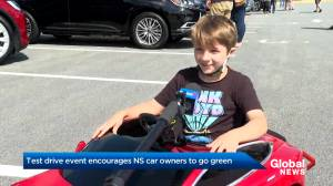 Test driving event encourages Nova Scotians to make 'no brainer' switch to electric vehicles (01:52)