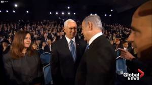 Mic catches Pence, Netanyahu discussing Trump impeachment: 'He's unstoppable'