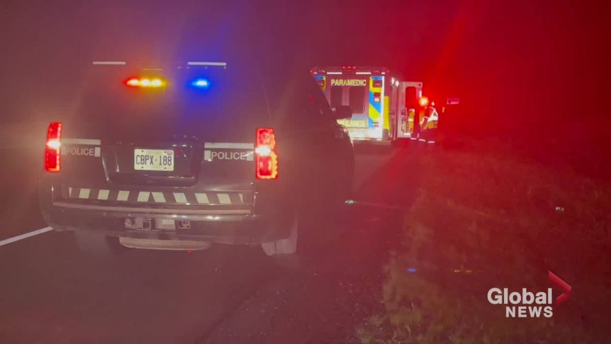 'Vehicles collide connected  Hwy. 401 adjacent   Cobourg'