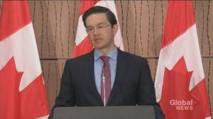 Pierre Poilievre responds to Bill Morneau resignation: 'there is no policy difference' (01:11)