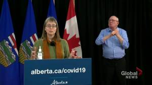 Dr. Hinshaw explains why Alberta is expanding window for 2nd COVID-19 vaccine dose (03:12)