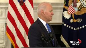 Biden touts economy as Psaki says 'we are still at war with the virus' following big losses in stock market (01:44)