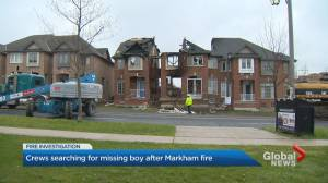 Crews search for 12-year-old boy in rubble of Markham house fire