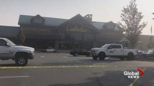 Scene outside Abbotsford Cabela's following serious incident