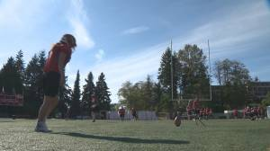Just for kicks – girl makes SFU football team