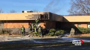 Fire in Kelowna at former school district building