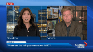 Where COVID-19 case numbers are rising in B.C. (01:25)