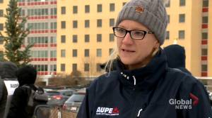 'Privatization does not save money': AUPE on wildcat strikes at Alberta health facilities (02:39)