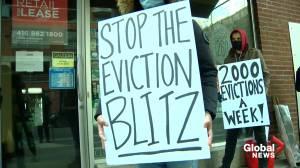 Coronavirus: Toronto tenants call for rent relief program and eviction moratorium (02:33)