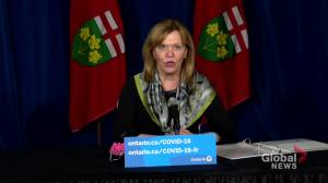 Ontario further expanding COVID-19 vaccine eligibility to individuals 50+: Minister Elliott (00:54)